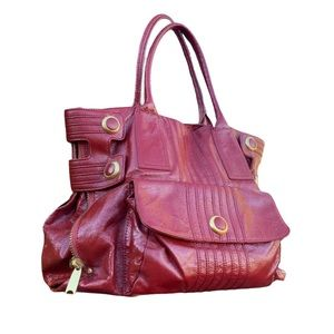 Cynthia Rowley Red Wine Patent Leather Purse